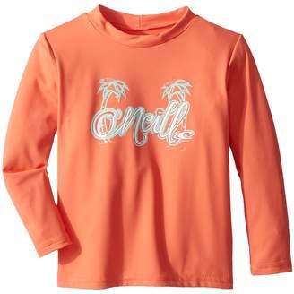 O'Neill Kids Skins Long Sleeve Rash Tee Girl's Swimwear