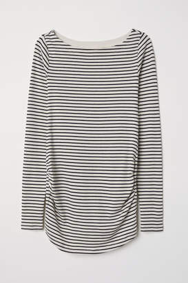 H&M MAMA Long-sleeved Jersey Top - Beige