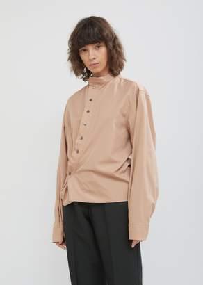 Lemaire High Collar Twisted Poplin Shirt