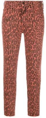 Mother leopard print skinny jeans