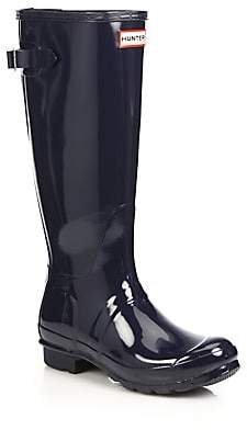 Hunter Women's Original Back-Adjustable Gloss Rain Boots