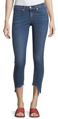 "Rag & Bone High-Rise 10"" Capri Jeans w/ Destroyed Hem"