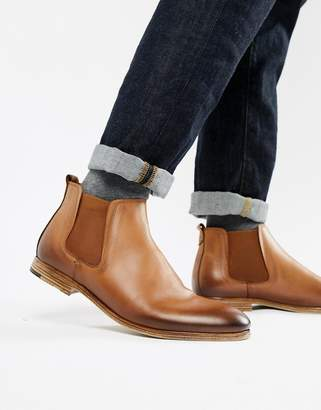 Aldo Albiston chelsea boots in tan leather