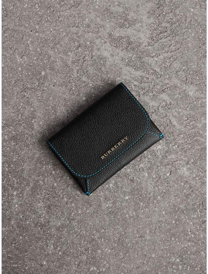 Burberry Leather Coin Case with Removable Card Compartment