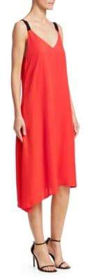 Rag & Bone Rag& Bone Rag& Bone Women's Zoe Asymmetric Shift Dress - Red - Size Small