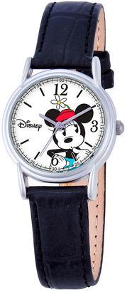DISNEY Disney Minnie Mouse Womens Black Strap Watch-W000548 $39.99 thestylecure.com