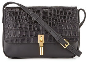Elizabeth and James Cynnie Crocodile-Embossed Micro Crossbody Bag $295 thestylecure.com