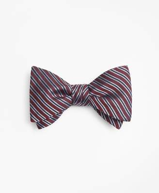 Brooks Brothers Textured Split Stripe Bow Tie