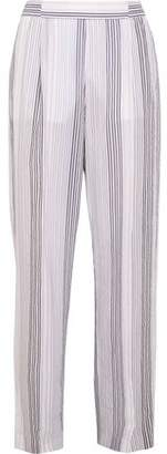 Stella McCartney Striped Cotton-Blend Voile Wide-Leg Pants