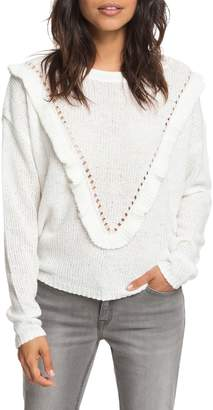 Roxy One Fine Stay Ruffle Sweater
