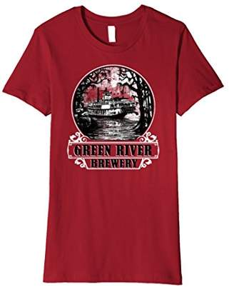 Green River Brewery Steam Boat Graphic Premium T-Shirt