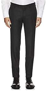 Marco Pescarolo Men's Cashmere Twill Trousers - Charcoal