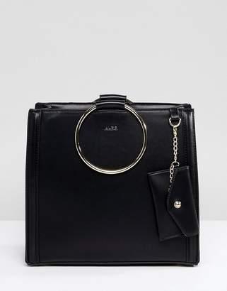 At Asos Aldo Tote Per Bag With Circle Ring Handle Detail