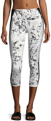 X by Gottex Side Curved Colorblock Capri Leggings, White Pattern $49 thestylecure.com