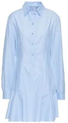 Stella McCartney Fluted Cotton-poplin Mini Shirt Dress