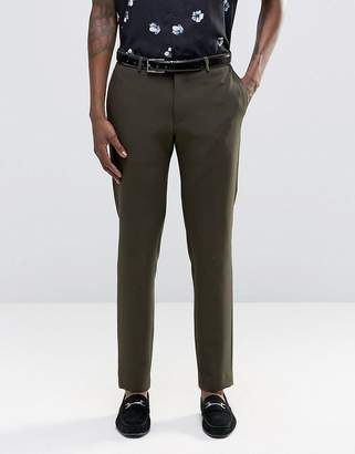 Asos Slim Suit Pants In Khaki