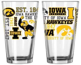 NCAA Boelter Brands 16 Oz. Pint Glass Team: University of Iowa Hawkeyes