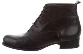 Stephane Kelian Leather Lace-Up Boots