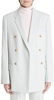 Calvin Klein Wool Twill Double Breasted Blazer