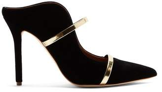 Malone Souliers By Roy Luwolt - Maureen Velvet Mules - Womens - Black Gold