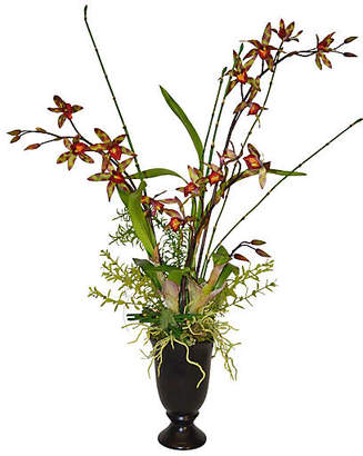 "28"" Orchid Arrangement in Vase - Faux - The French Bee"