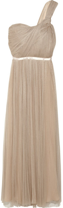 Chloé One-shoulder silk-blend tulle gown