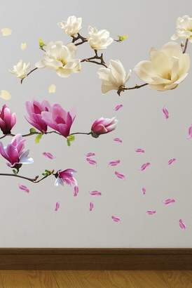 WalPlus Small White Magnolia & Magnolia Flowers Decal