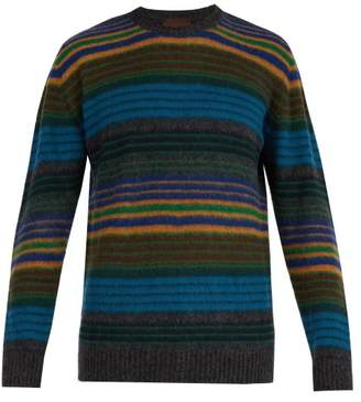 Altea Striped Wool Blend Sweater - Mens - Green Multi