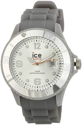 Ice Watch Ice-Watch Men's SI.SR.B.S.09 Sili Collection Silver Plastic and Silicone Watch
