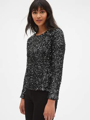 Gap Long Sleeve Sequin Top