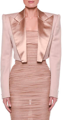 Tom Ford Satin-Lapel Cropped Jacket