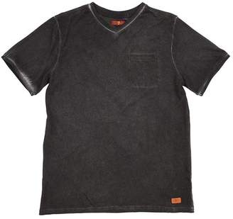 7 For All Mankind Kids Boys S-Xl V-Neck Tee In Castlerock