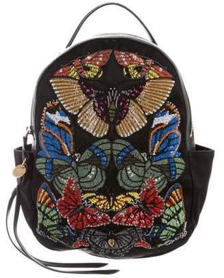 Alexander McQueen Embellished Satin Backpack