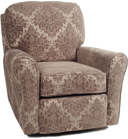 Pewter Bliss Cottage Glider Recliner