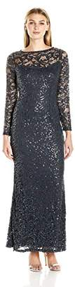 Marina Women's Stretch Sequin Lave with Long Sleeve $57.69 thestylecure.com