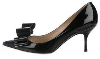 Valentino Bow Patent Leather Pumps Black Bow Patent Leather Pumps