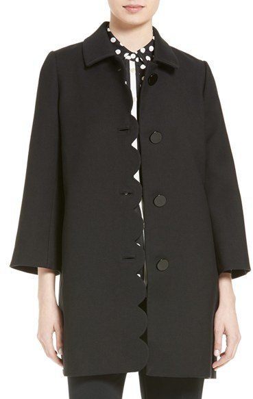 Kate Spade Women's Kate Spade New York Scallop Twill Coat