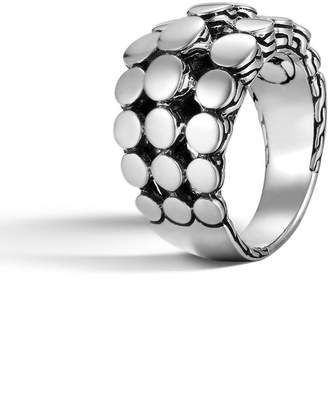 John Hardy Dot Three-Row Dome Ring, Size 7