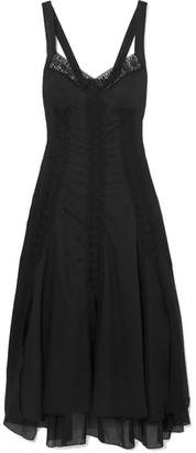 Charo Ruiz - Heart Guipure Lace-trimmed Cotton-blend Voile Maxi Dress - Black