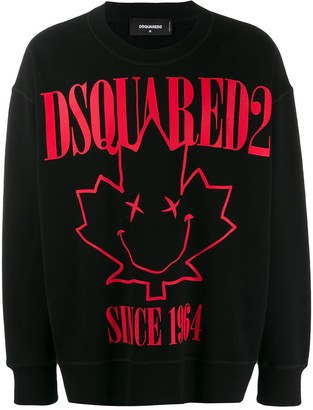 DSQUARED2 leaf print sweatshirt