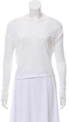 Alexander Wang Cropped Long Sleeve T-Shirt
