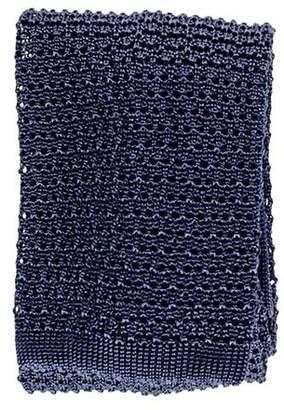 Black Navy Blue Italian Knitted Silk Tie