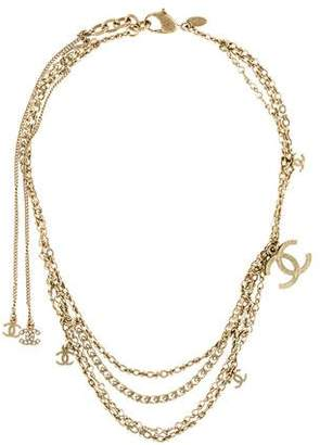 Chanel CC Draped Collar Necklace