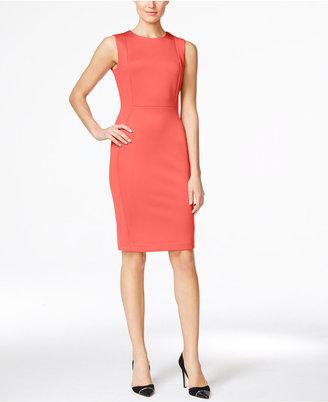 Calvin Klein Scuba Sheath Dress $89.98 thestylecure.com