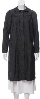 agnès b. Wool-Blend Button-Up Coat