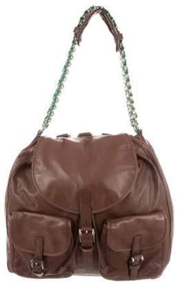 Balenciaga Leather Convertible Bag Brown Leather Convertible Bag