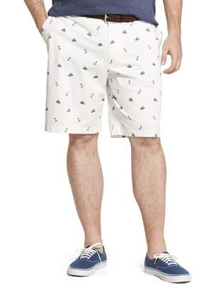 """Izod Men's Big and Tall Saltwater Stretch 9.5"""" Chino Printed Shorts"""