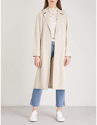 Sandro Notch-lapel twill coat