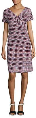 Max Mara Odean Printed Short Sleeve Dress