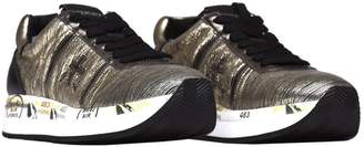 Premiata Conny 2973 Gold Sneakers